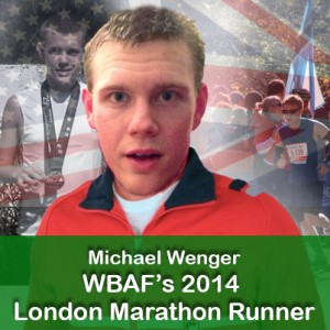 Michael Wenger, WBAF's London marathon runner 2014