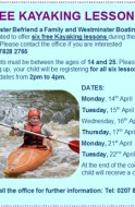 Kayaking Lessons during the Easter Holidays