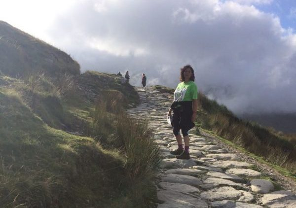 Noreen Sumra almost at the top of Mount Snowdon