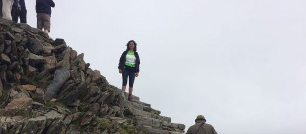 Noreen Sumra at the summit of Mount Snowdon